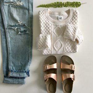 Gap Creamy Cotton Cableknit Sweater